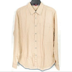 7 For All Mankind Red Blue Yellow Striped Shirt